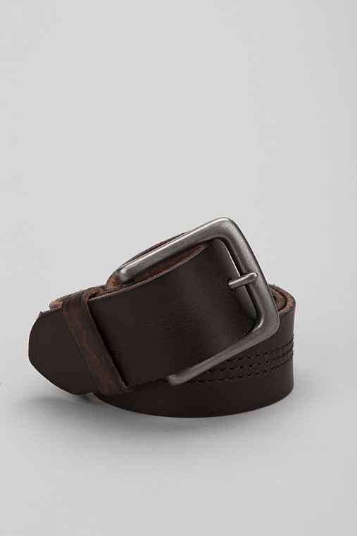 Mid Stitch Leather Belt