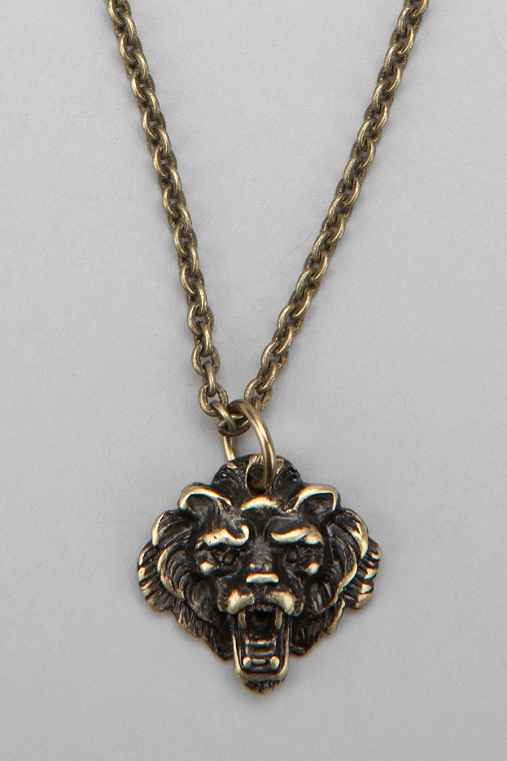Lion Necklace - Urban Outfitters