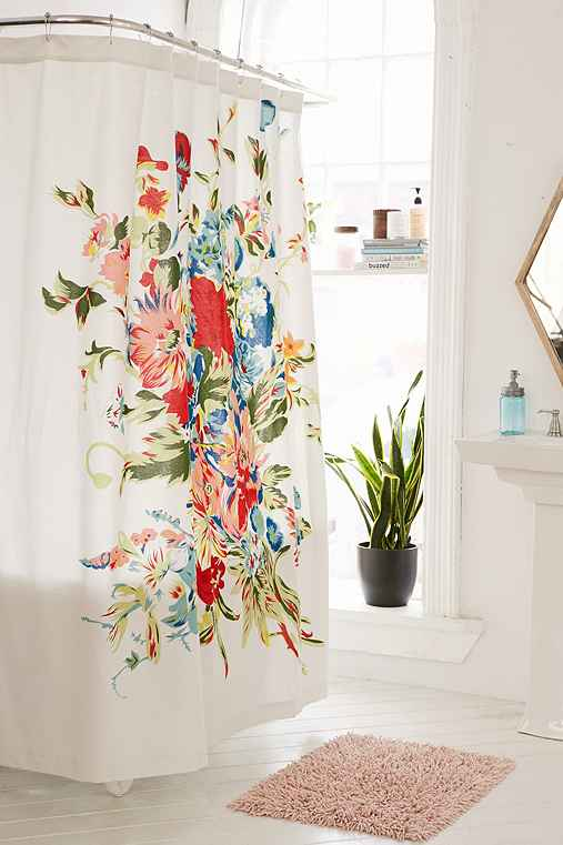 Thumbnail image for Romantic Floral Scarf Shower Curtain