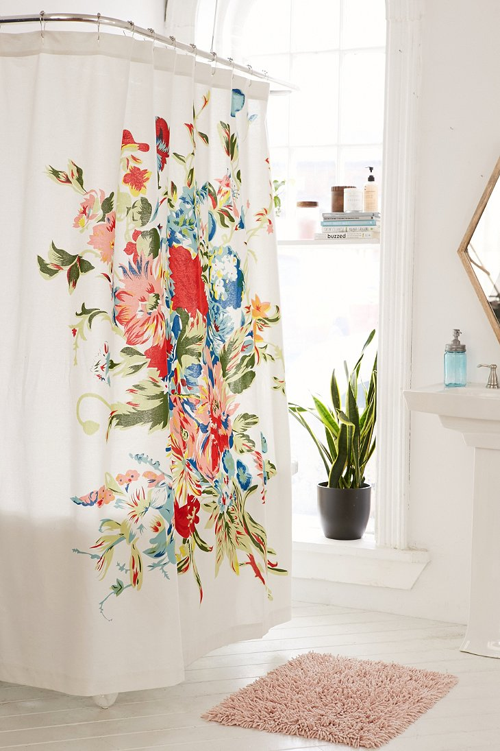 Romantic Floral Scarf Shower Curtain Urban Outfitters