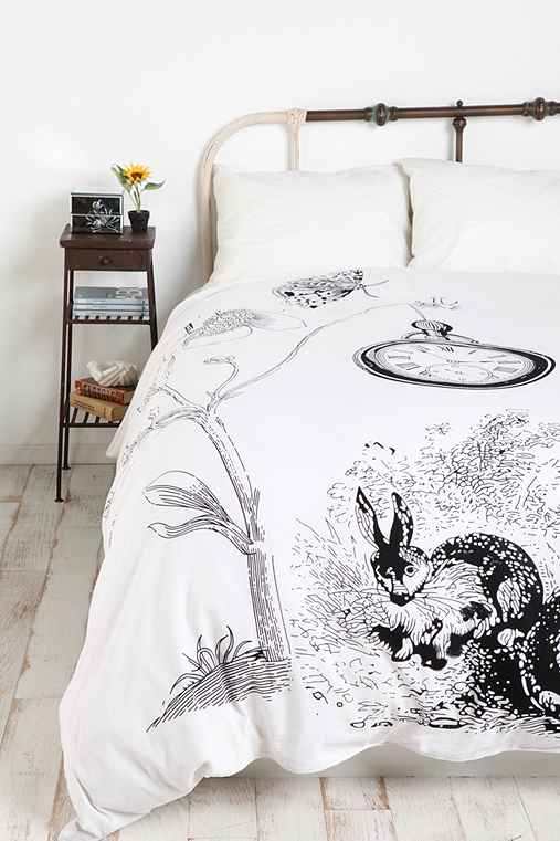 White rabbits duvet cover urban outfitters - Housse de couette lapin ...