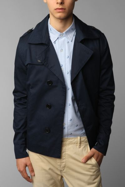 Charles & 1/2 Cropped Trench Coat