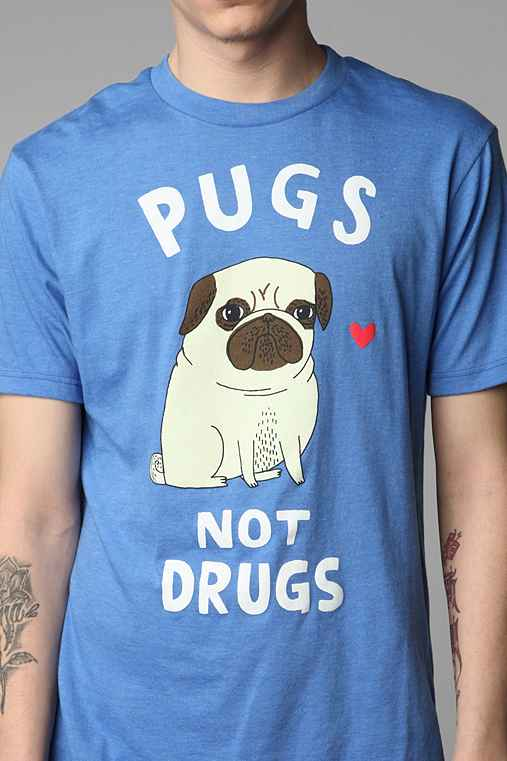 Gemma Correll Pugs Not Drugs Tee