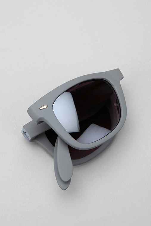 Rubberized Folding Wayfarer Sunglasses