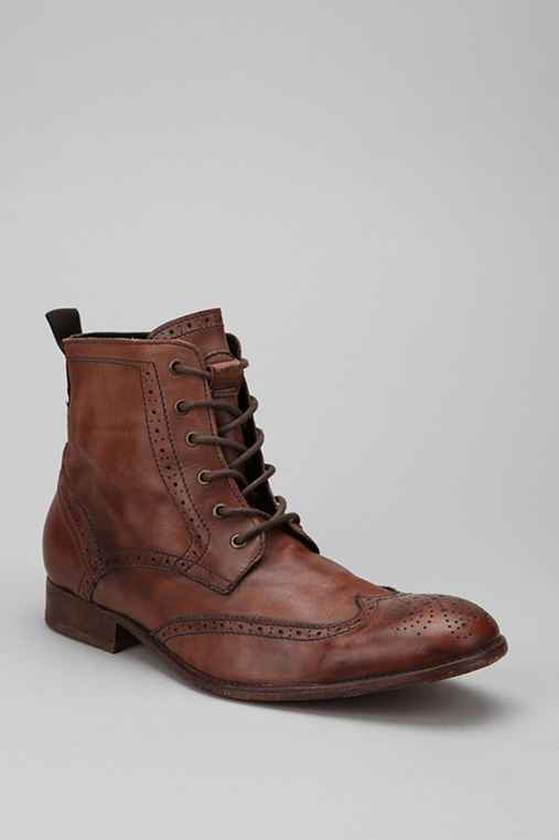 H by Hudson Angus Tan Washed Lace Up Boot