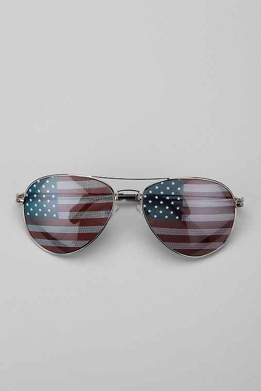 Flag Aviator Sunglasses