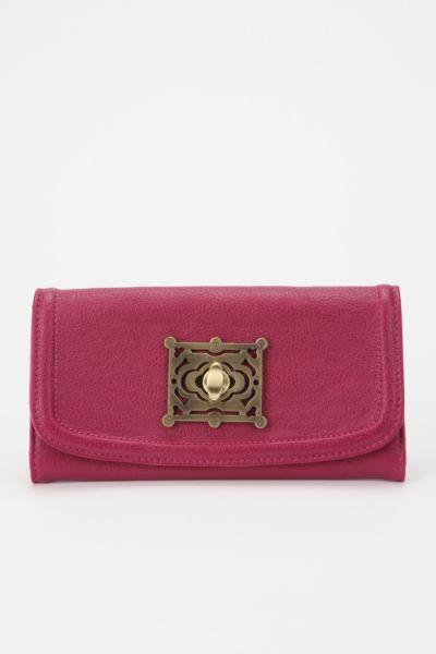 Kimchi Blue Ornate Turnlock Checkbook Wallet
