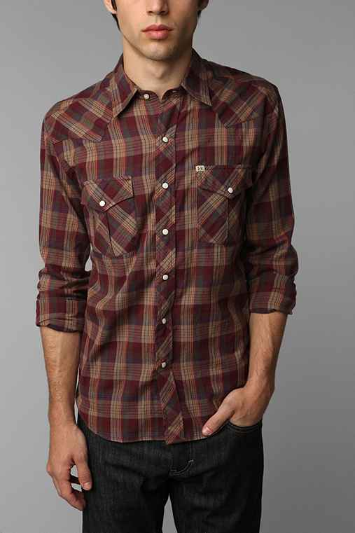 Salt Valley Long-Sleeve Hemlock Plaid Western Shirt