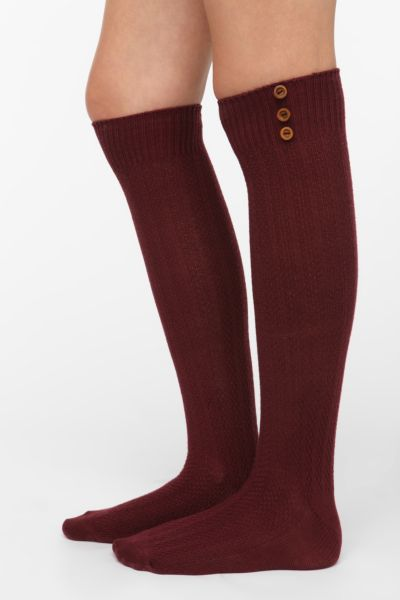 Buttoned-Up Knee-High Sock