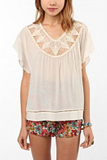 Staring at Stars Embellished Silk Tunic Top