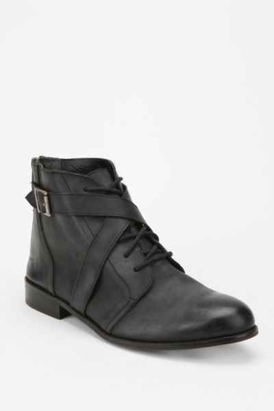 Ecote Leather Crisscross Lace-Up Boot