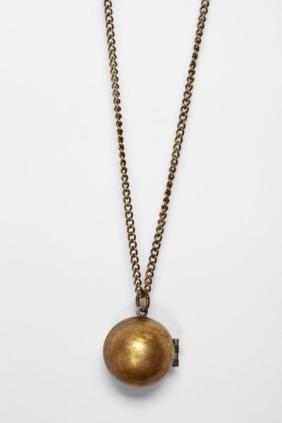 Metal Ista for Urban Renewal Globe Locket Necklace