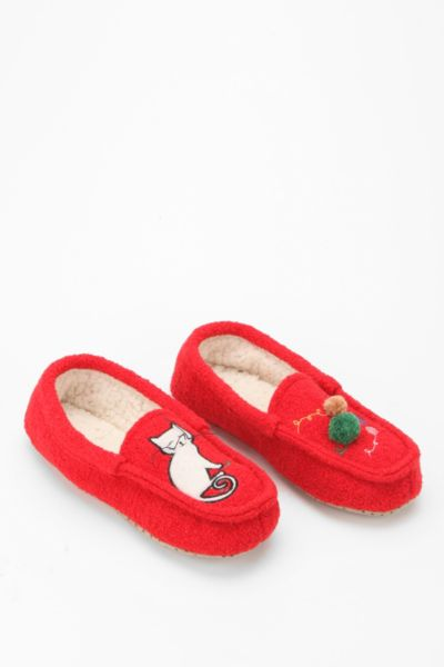 Red Cat Moccasin Slipper