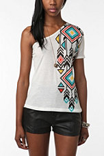 Staring at Stars One-Shoulder Tribal Tee