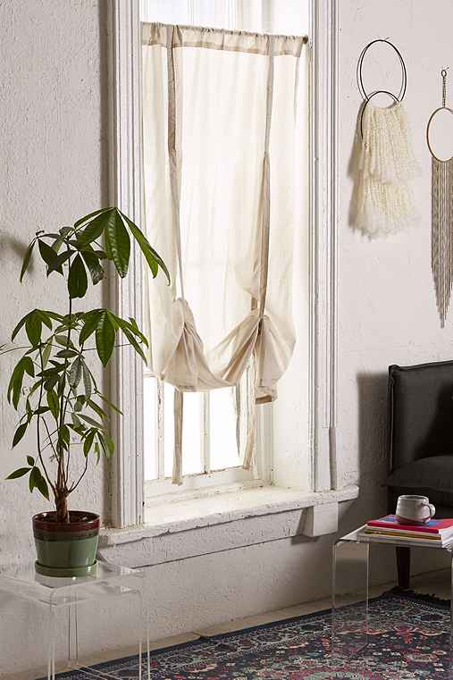 Draped Shade Curtain,GREY,45X63
