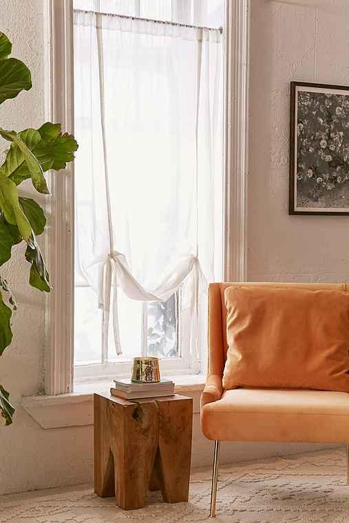 Draped Shade Curtain,IVORY,45X63