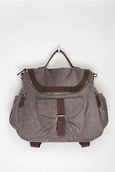 Deux Lux Zip-Flap Corduroy Backpack