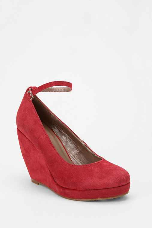 Cooperative Suede Ankle Strap Wedge