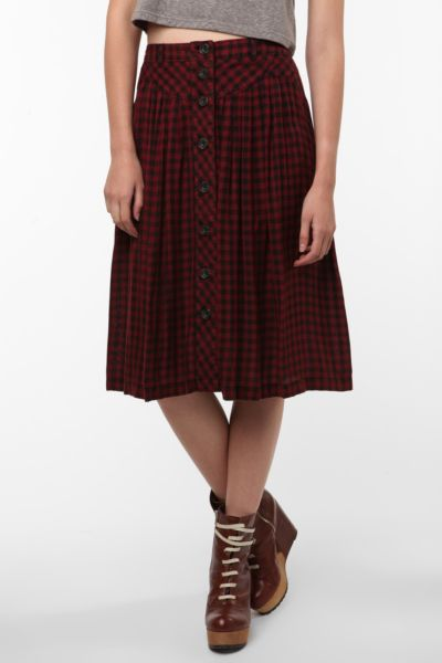 Ecote Button-Up Skirt