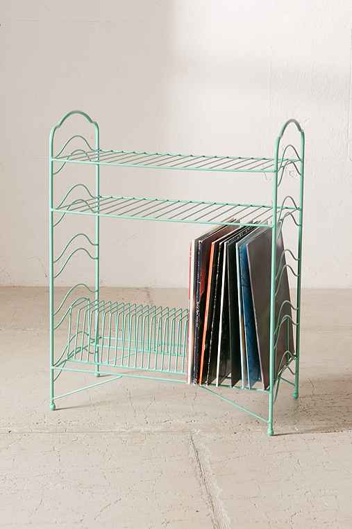 vinyl record storage shelf urban outfitters. Black Bedroom Furniture Sets. Home Design Ideas