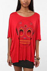 Staring at Stars Frida Skull Oversized Tee