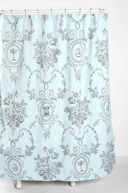 storybook shower curtain urban outfitters. Black Bedroom Furniture Sets. Home Design Ideas