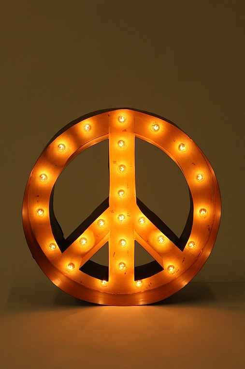 Thumbnail image for Peace Sign Marquee Light