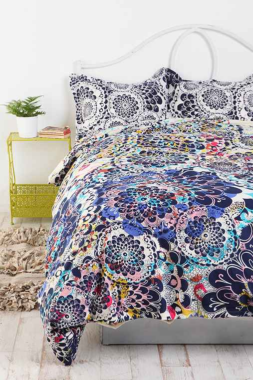 Kaleidoscope Burst Percale Cotton Duvet Cover