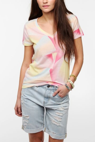 BDG Printed V-Neck Tee