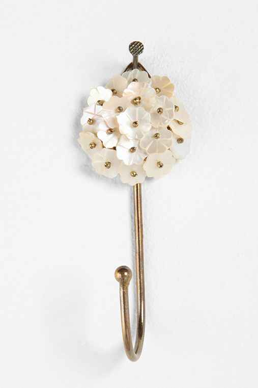 Beaded Mother of Pearl Hook