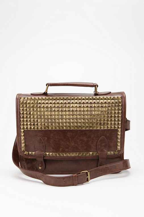 Ecote Studded Professor Satchel