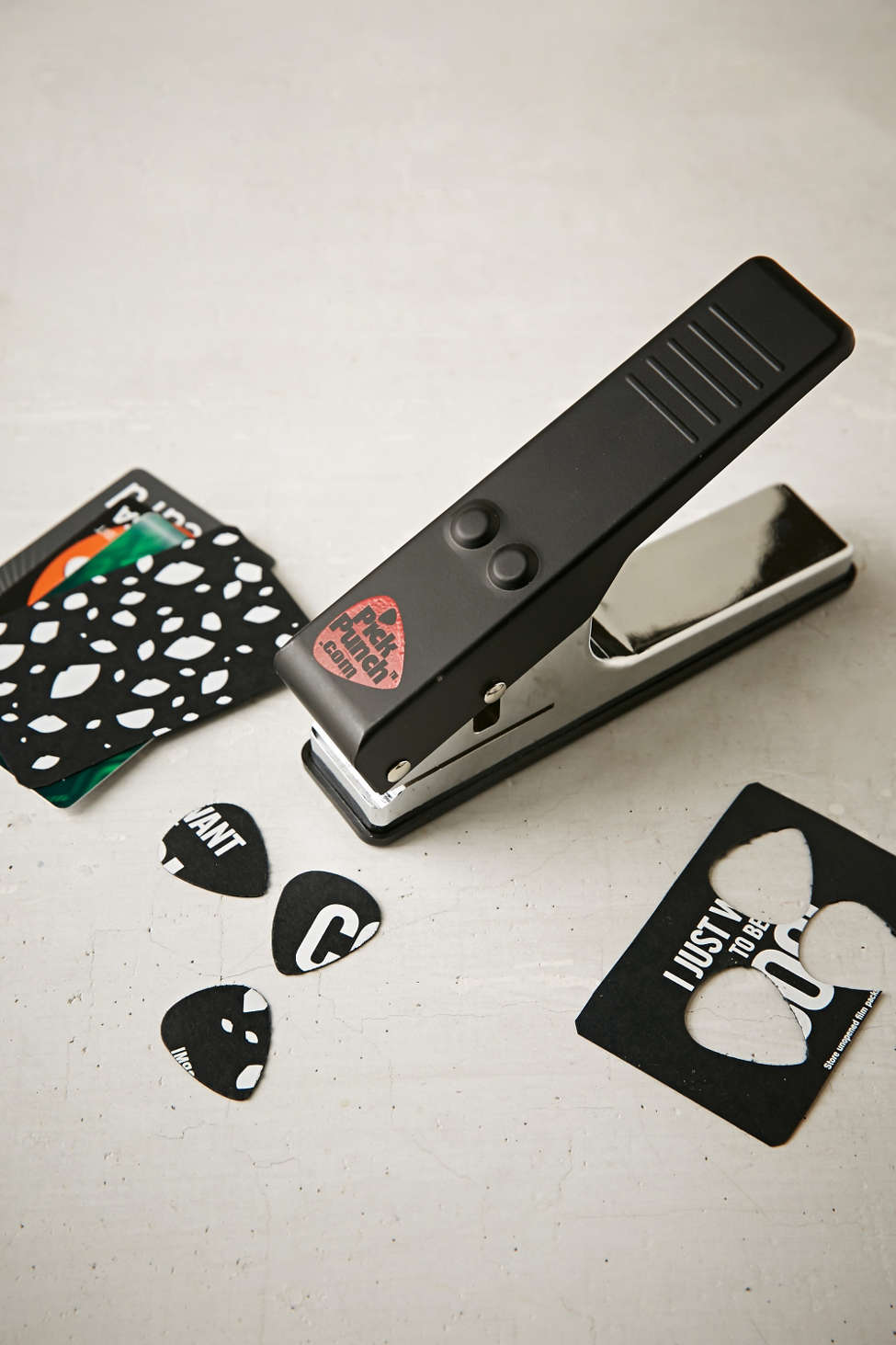 Guitar Pick Punch - Make a pick out of any gift card or hard plastic!