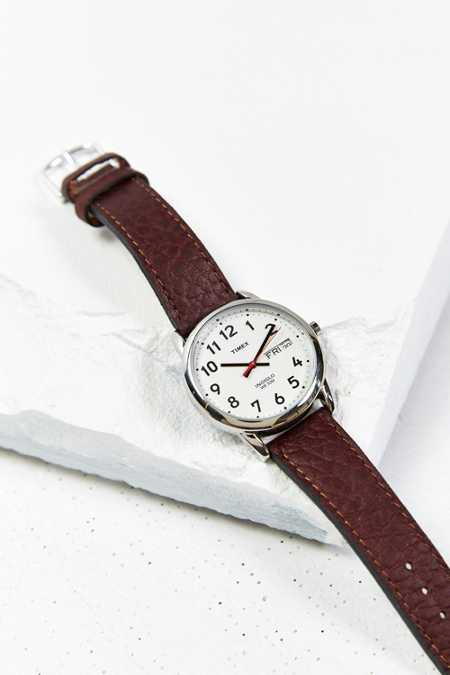 Timex Leather Easy Reader Watch