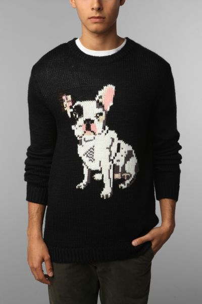 PJ By Peter Jensen French Bulldog Sweater - Urban Outfitters