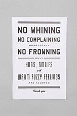 Hammerpress No Whining Print