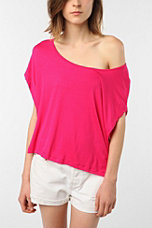 Mouchette Solid Drop Arm Boxy Crop Tee