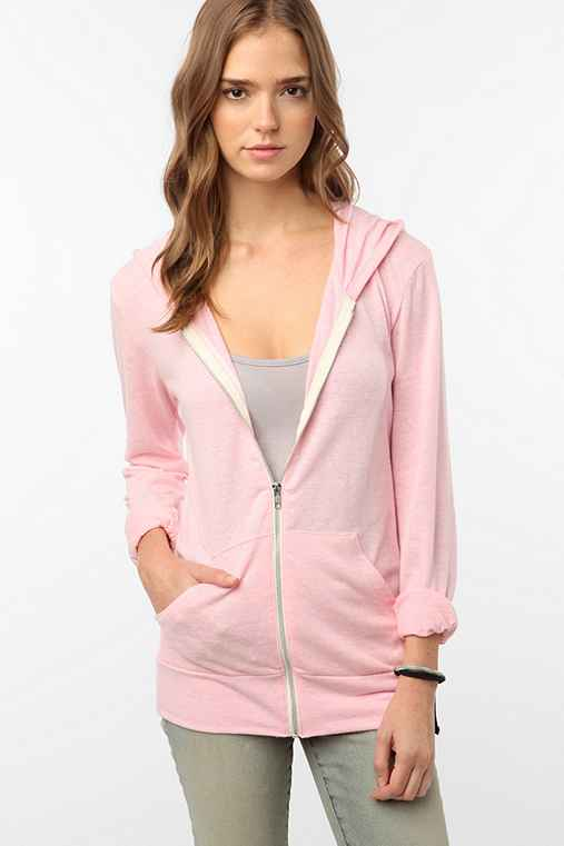Alternative Pink Ribbon Zip-Front Hoodie