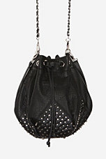 Deena & Ozzy Confetti Studded Bucket Bag