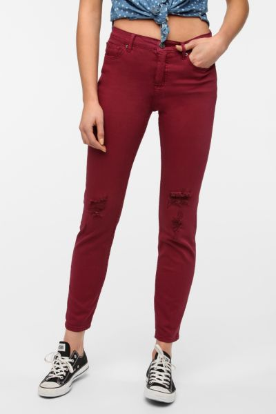 BDG Cigarette High-Rise Jean - Cranberry