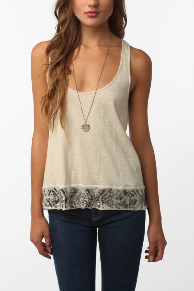 Ecote Embroidered Swing Tank Top