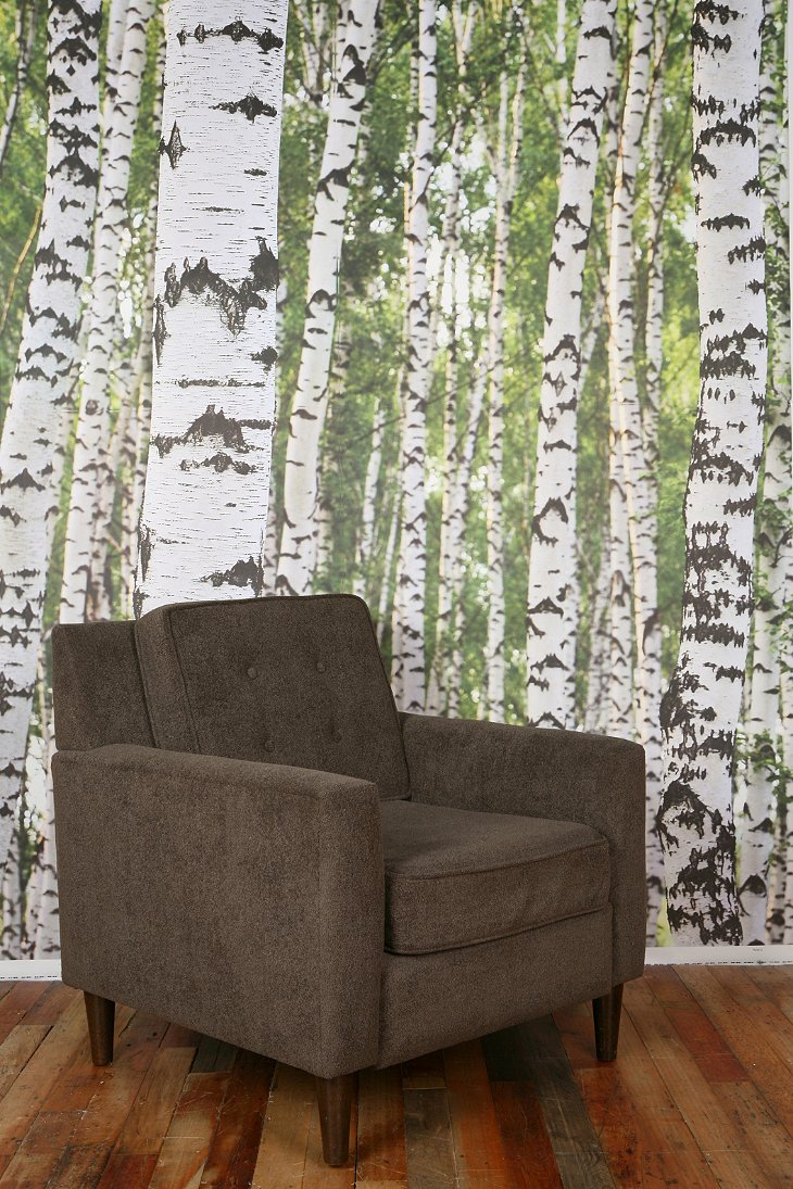 Birch tree wall mural urban outfitters for Birch tree wallpaper mural