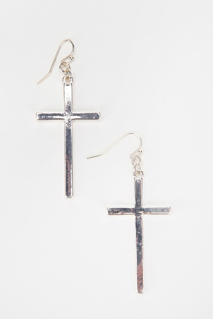 hanging cross earring outfitters