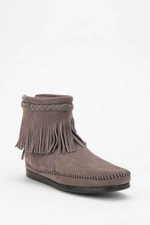 Minnetonka High-Top Back-Zip Boot