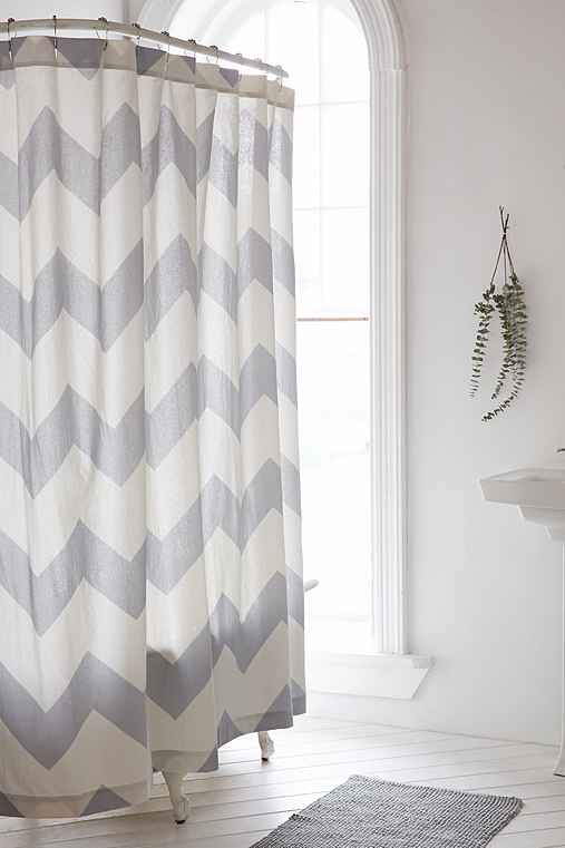 zigzag shower curtain urban outfitters. Black Bedroom Furniture Sets. Home Design Ideas