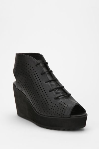 Deena & Ozzy Perforated Lace-Up Wedge