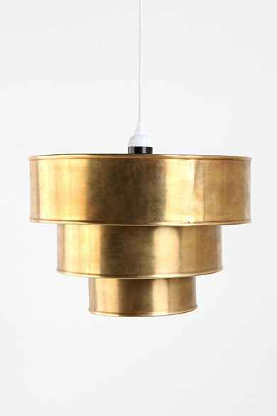 Tiered Brass Pendant Shade