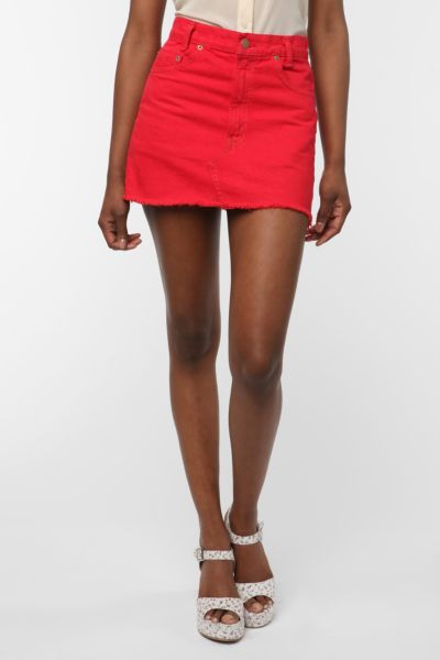 Urban Renewal Denim Mini Skirt