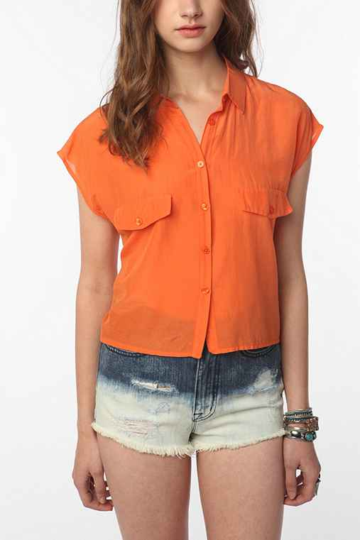 Cheap Monday Cassi Cropped Button-Down Shirt