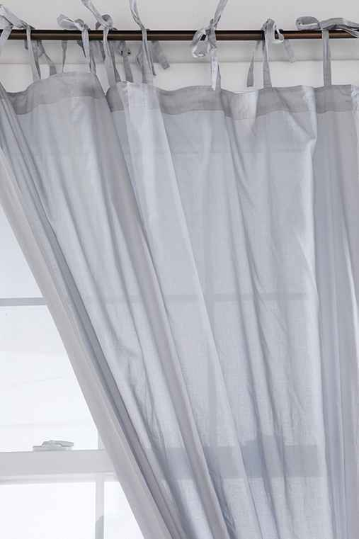 Tie-Top Voile Curtain