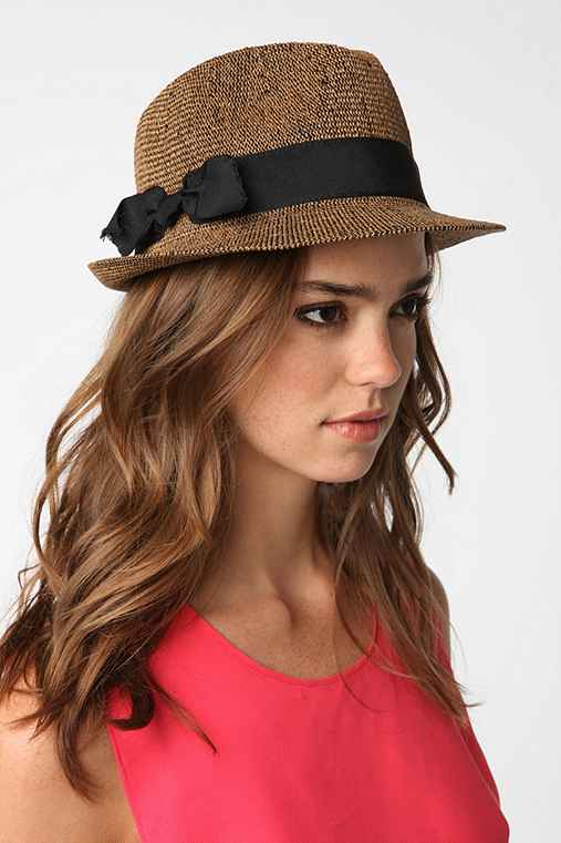 Pins and Needles Frayed Bow Fedora